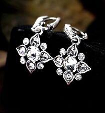 NUOVO Moda Carini Diamante Fiore Argento Orecchini Gocce Goth Boho classico Regalo UK