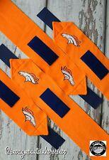 Horse Polo Leg Wraps Stable Wraps Set of 4, Embroidered Denver Broncos