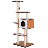 """60"""" Tall Cat Condo Tower Scratching Post Activity Tree House Furniture"""