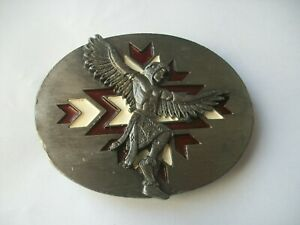 INDIAN NATIVE AMERICAN VINTAGE  BELT BUCKLE DATED 1994.............