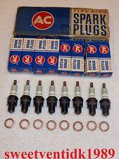 'NOS' AC-45FF Spark Plugs......Oldsmobile F85 & Jetfire.....w / copper gaskets