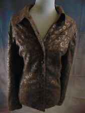 Coldwater Creek Women's Brown Collared Snap Closure Lined Moto Jacket Size 20