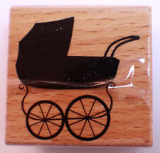 Baby Buggy doll Carriage Vintage Style Studio G Wooden Rubber Stamp