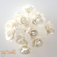 Mulberry Paper Tea Roses Flowers Card Crafts Embellishment Weddings Favours