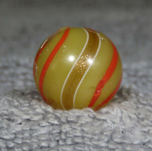 """TRANSLUCENT BANDED LUTZ HANDMADE MARBLE  11/16""""   0.683"""""""