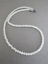 Vintage Silver Navajo Quartz Crystal Necklace with Green Inclusions