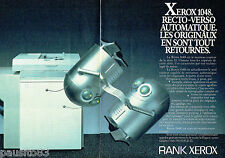 PUBLICITE ADVERTISING 016  1985  RANK XEROX photocopieur 1048  ( 2p)