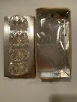 Vintage Atlantis Full Lead Crystal Napkin Rings set of 4