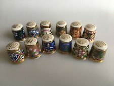 MINTON Thimbles The PUGIN Thimble Collection x12