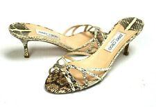 Jimmy Choo Snakeskin Slide Open-toe Sandals Women's Size 39 EU / 9 US