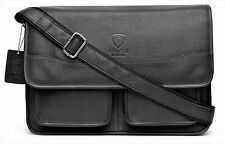 Designer Leather Mens  Ladies Crossover Shoulder Work Messenger Bag Laptop