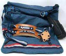 USPS Official D1210A Mailman Letter Carrier US Mail Bag Double Satchel Leather