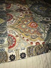 Hedaya Home Pair Quilted Cotton Poly Pillow Shams Ethinic Patterned Rust Blue