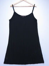B-033 TRELISE COOPER TOP BLACK MODAL SLIP STRETCH TOP SIZE 14 NEW WITH TAG
