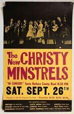 THE NEW CHRISTY MINSTRELS In Concert 1964 Santa Barbara Bowl POSTER Folk
