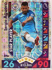Match Attax 2016/17 Premier League - #180 Sergio Aguero - Star Player