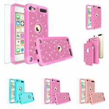 For Ipod Touch 6, 5, 7th Gen. Glitter Bling T.Glass Screen Protector Cover Case