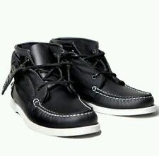 SEBAGO CAMPSIDES Exo Vane Double Botas Barco Zapato Negro UK 7.5 EU 41.5