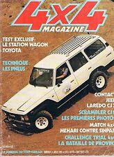 4x4 magazine   n°4   juil 1981 : Station Wagon Toyota