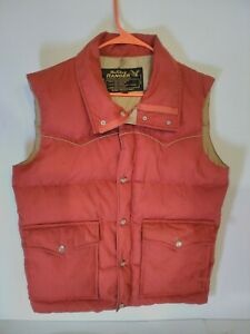 Vintage Holiday Ranger Outdoor Sportswear Duck Down Puffer Puffy Vest Mens Sz M