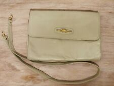 Vintage Oroton Long Ivory cream handbag/clutch bag Italian leather women's bags