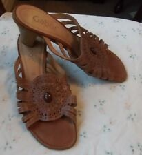 Gabor summer leather sandals size 6 excellent used condition beautiful romantic
