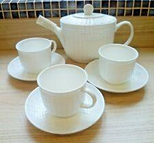 Wedgwood Nantucket Tea Pot, 3 Cups and 3 Saucers