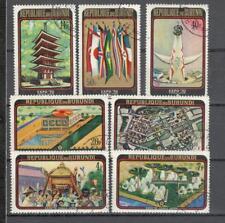 S1622 - BURUNDI 1970 - SERIE COMPLETA ESPOSIZIONE UNIVERSALE - VEDI FOTO