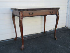 Mahogany Carved Console Card Game Dining Extension Table 9271