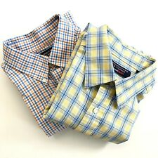 Roundtree & Yorke Men's Shirts Set of 2 Size Large Long Sleeve Button Down Check