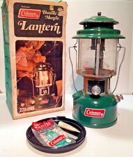 Vintage Coleman Two Mantle Lantern Model 220J with Accessory Safe dated 9 - 76