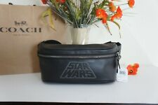 NWT Coach X F79948 Star Wars Motif Black Multi Belt Bag Signature Canvas $378