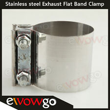 """2.5 """" Stainless Steel Exhaust Flat Band Clamp /Clamps"""