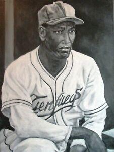 MARTIN DIHIGO latin negro baseball leagues art original 24x18 inch painting