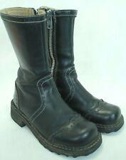 VINTAGE!! JOHN FLUEVOG F-SOLES WOMEN'S BAROQUE BLACK LEATHER BOOTS SIZE 6.5 VGC!