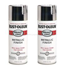 Pack of 2 RUST-OLEUM 7718830 11 oz. Metallic Chrome Car Automotive Spray Paint