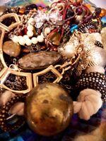 ESTATE Vintage JEWELRY Art Deco RETRO Gold Silver Tone Junk Drawer Lbs Lot A309