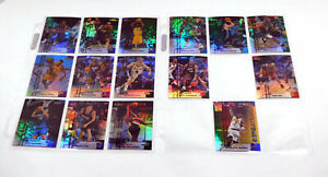 Lot of (15) Different 1999-00 Finest Basketball Refractors