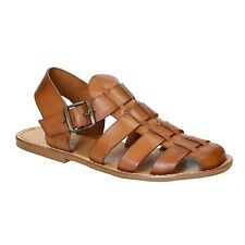 MENS STRAPPY SANDALS HANDMADE IN VINTAGE CUIR LEATHER CRAFTED IN ITALY