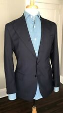 CORDONE1956 handmade navy blue suit 38R s130 wool travel quality (48 EU)