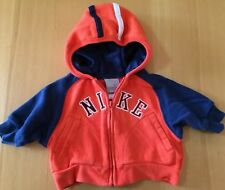 NIKE Baby Boys Hood Jacket Size 3 Months, Blue & Orange Excellent!