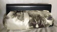 Large NINE WEST Padded Timber/Fabric Clutch Bag / Handbag