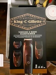 King C gillette Rasoir  Tondeuse avec 3 sabots brun