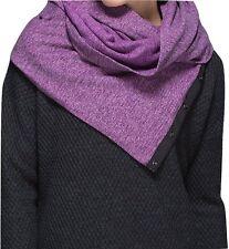 NWT Lululemon Vinyasa Scarf Rulu Mini Check Pique Ultra Violet Black Snap Wrap