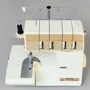 White Super Lock 228  by X  Jaguar Sewing Machine 4 Spools 228W-0
