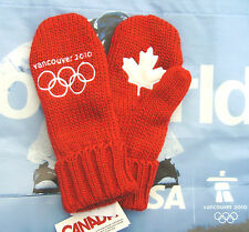 New listing Original Vancouver 2010 Winter Olympic Red Mittens Youth Size O/S New With Tags