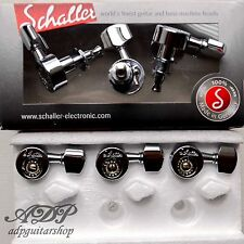Mecaniques SCHALLER DA VINCI 6xLeft 1:14 CHROME Tuners 10mm SC501942 10100220
