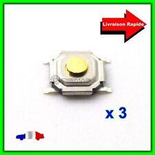 3 Boutons Poussoirs Switch pour Télécommande Coque Plip Hyundai Jaguar Toyota VW