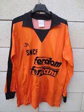 VINTAGE Maillot PUMA porté n°5 SNCF orange trikot shirt ancien L