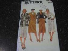 6735 Vintage sin Cortar Butterick Patrón de Costura Chaqueta Falda Traje 10 12